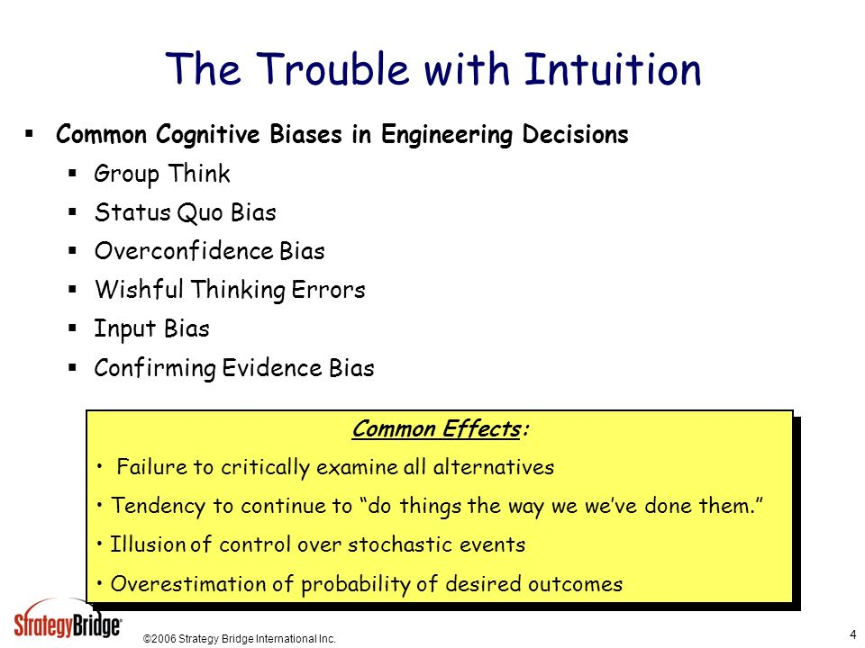 The Trouble with Intuition