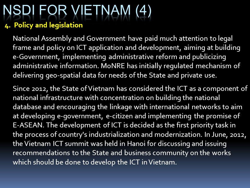 NSDI for vietnam (4) 4. Policy and legislation