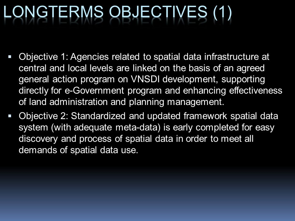 LONGTERMS OBJECTIVES (1)
