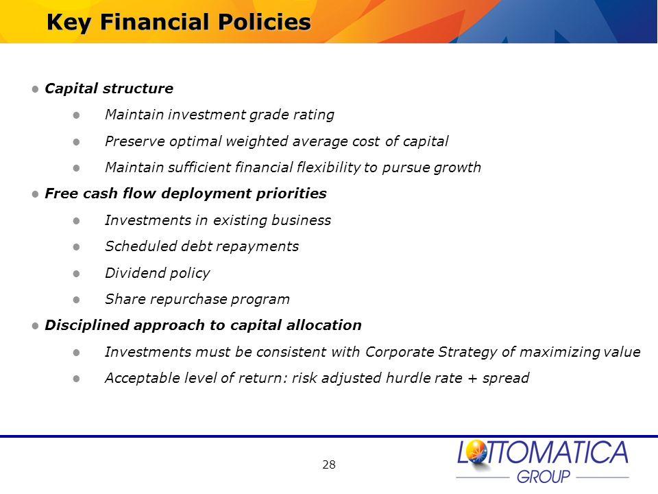 Key Financial Policies
