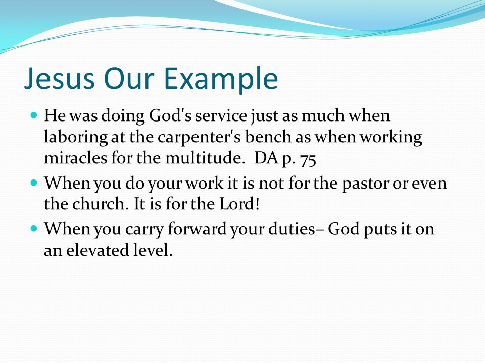 Jesus Our Example