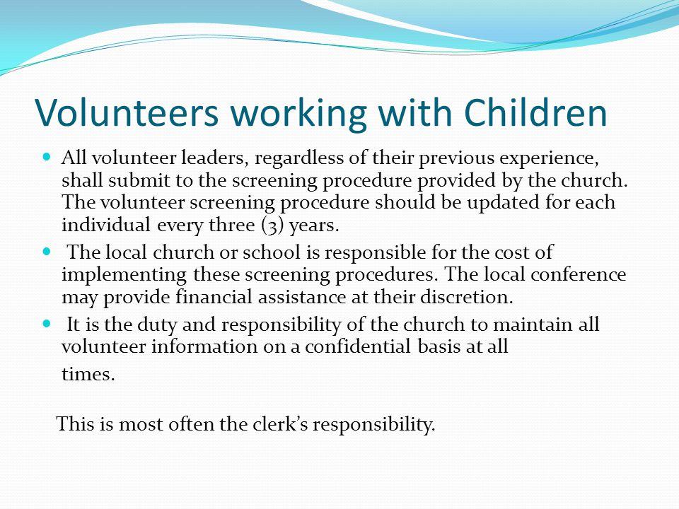 Volunteers working with Children