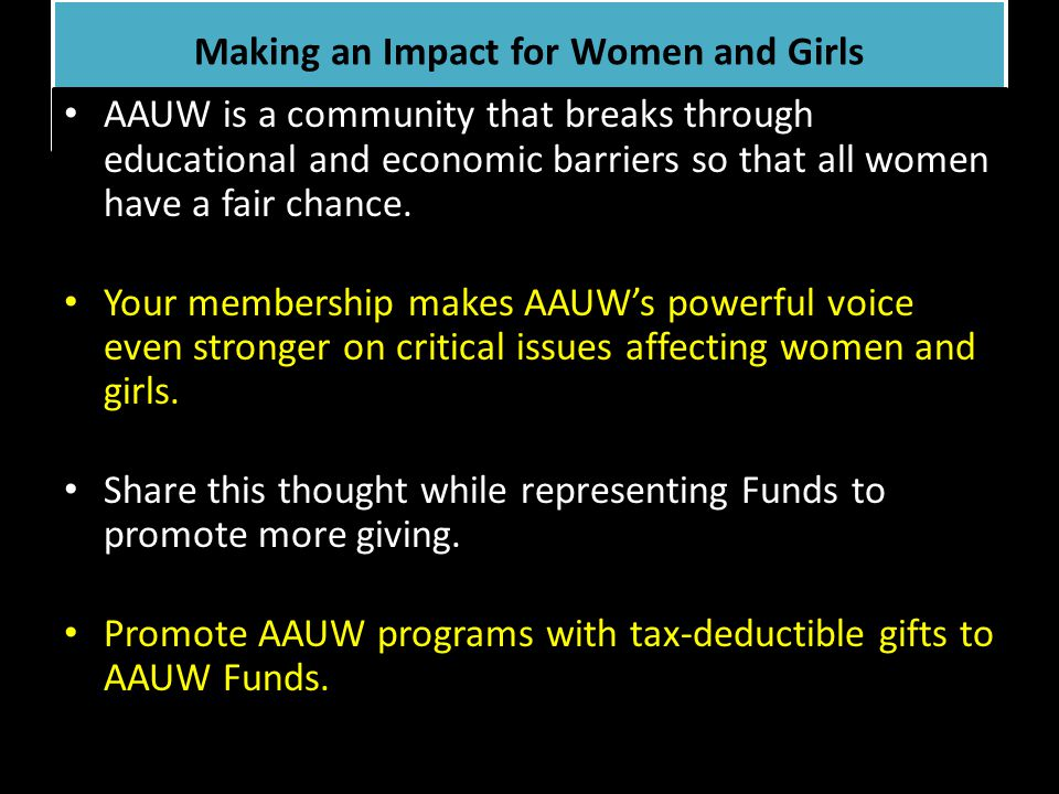 Making an Impact for Women and Girls