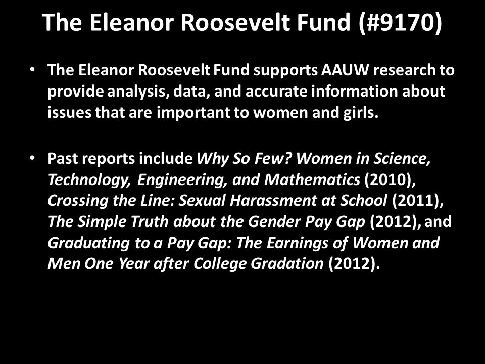 The Eleanor Roosevelt Fund (#9170)