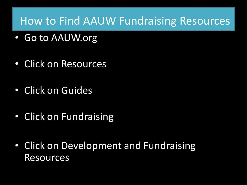 How to Find AAUW Fundraising Resources