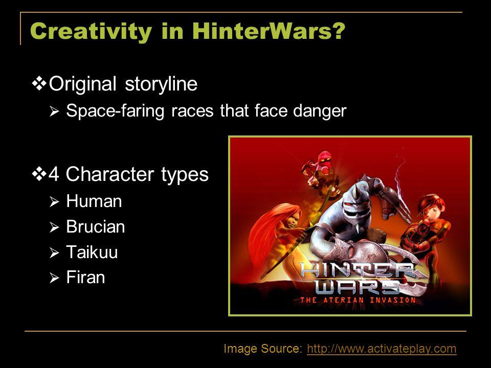 Creativity in HinterWars