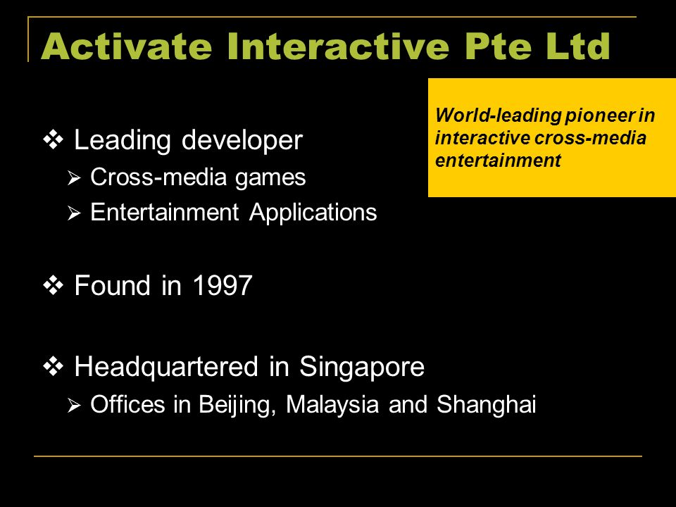 Activate Interactive Pte Ltd