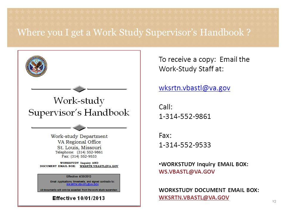 Sample copy of the VA Form 22-8691 Application for work-study allowance form