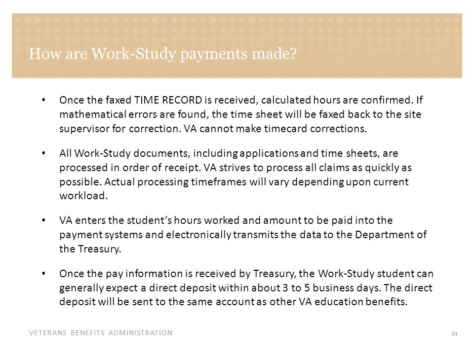 How are Work-Study payments made (continued)