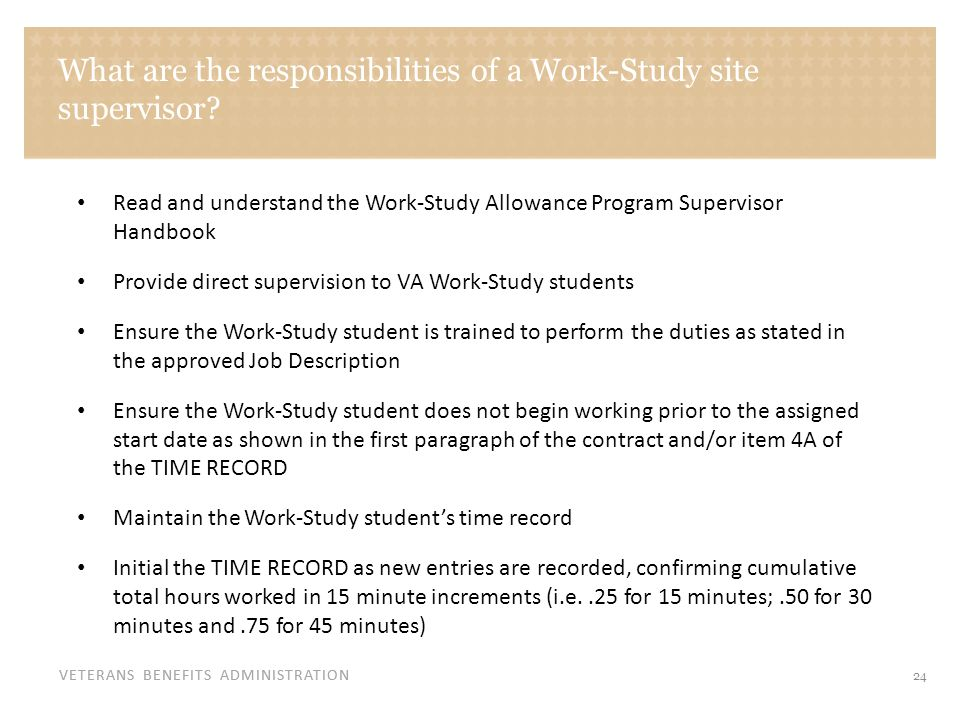 What are the responsibilities of a Work-Study site supervisor