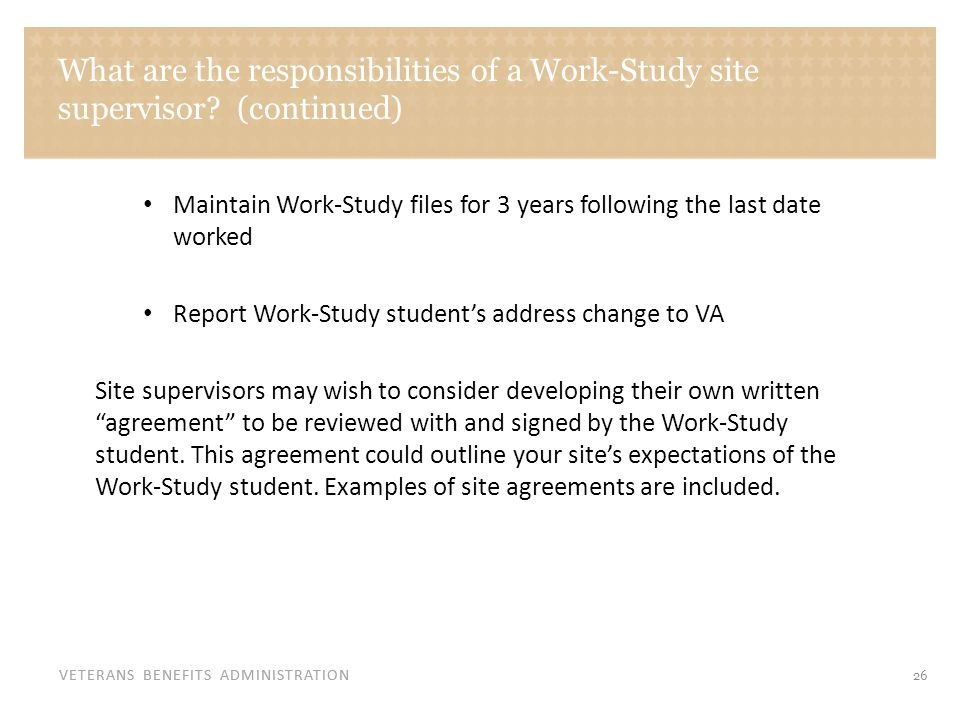 Sample Work-Study Student and Work Site Agreement