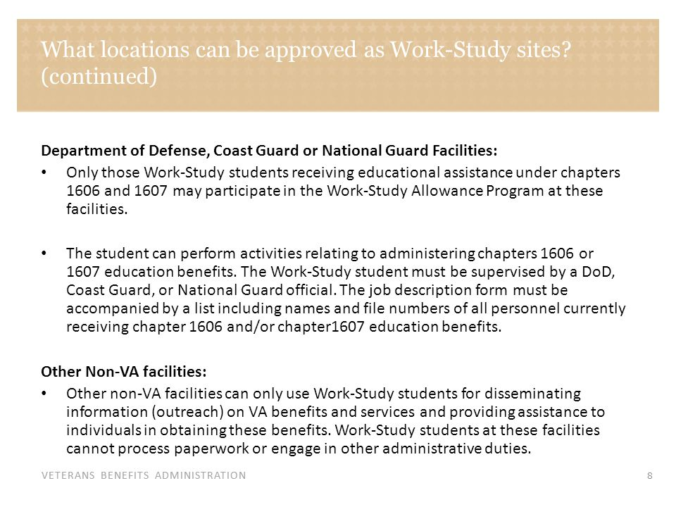 What duties can a Work-Study student perform