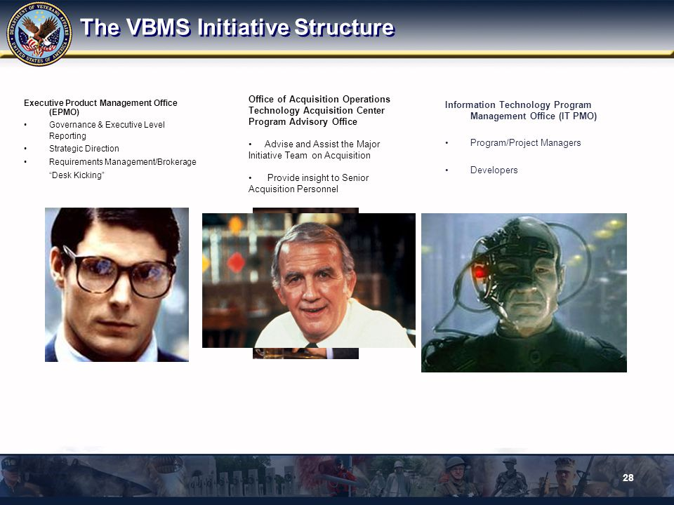 The VBMS Initiative Structure