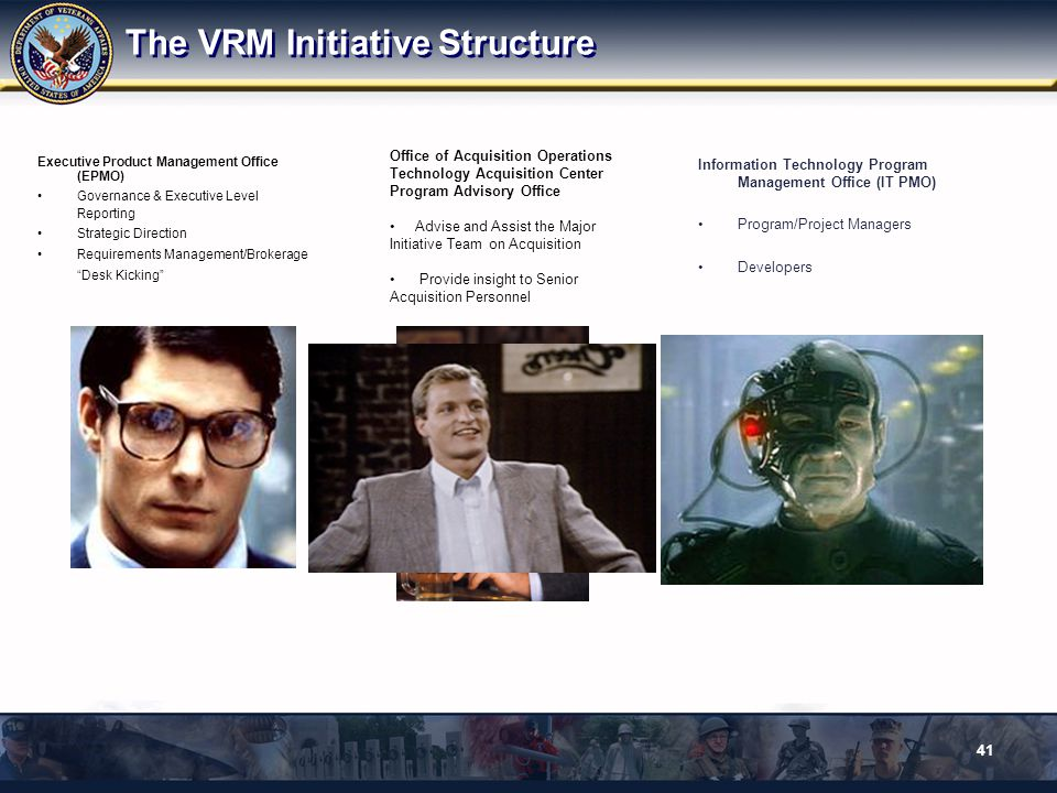 The VRM Initiative Structure