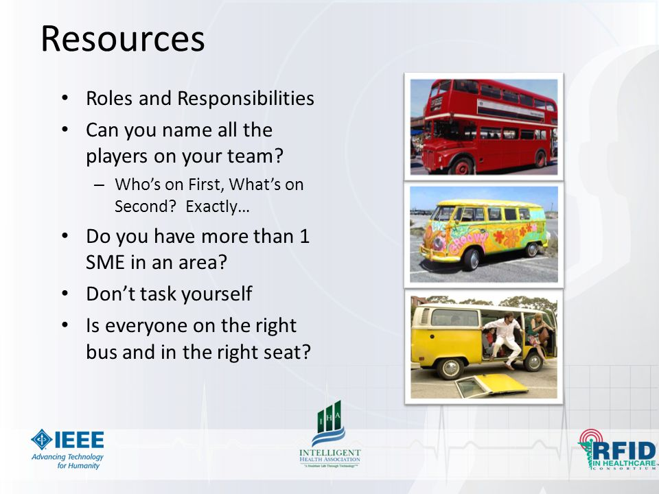 Resources Roles and Responsibilities