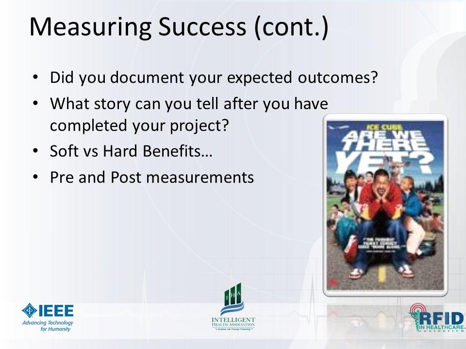 Measuring Success (cont.)