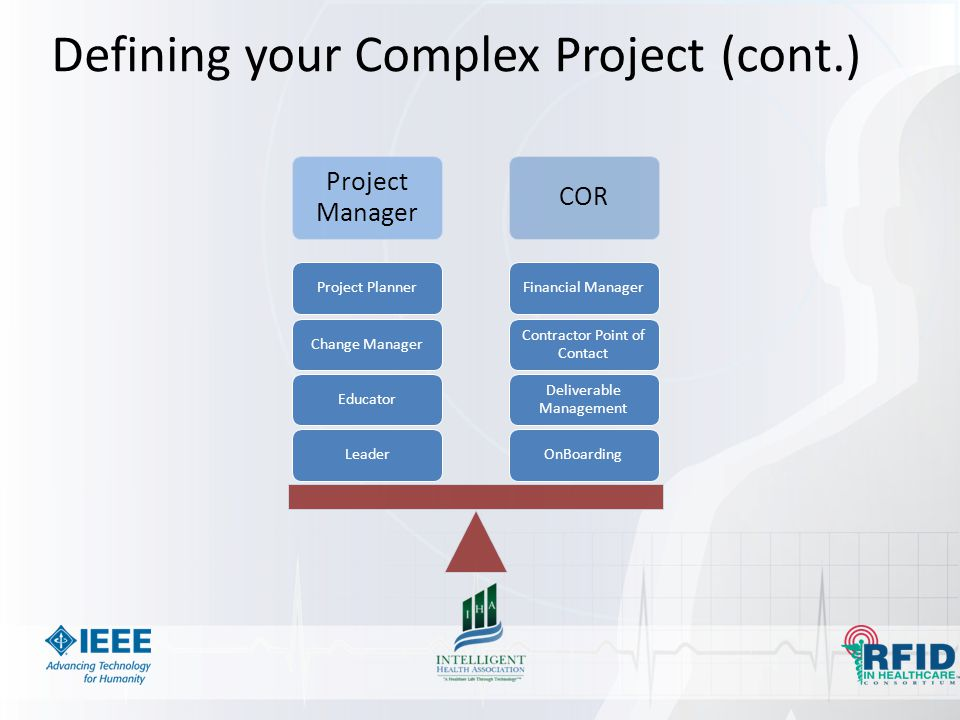 Defining your Complex Project (cont.)