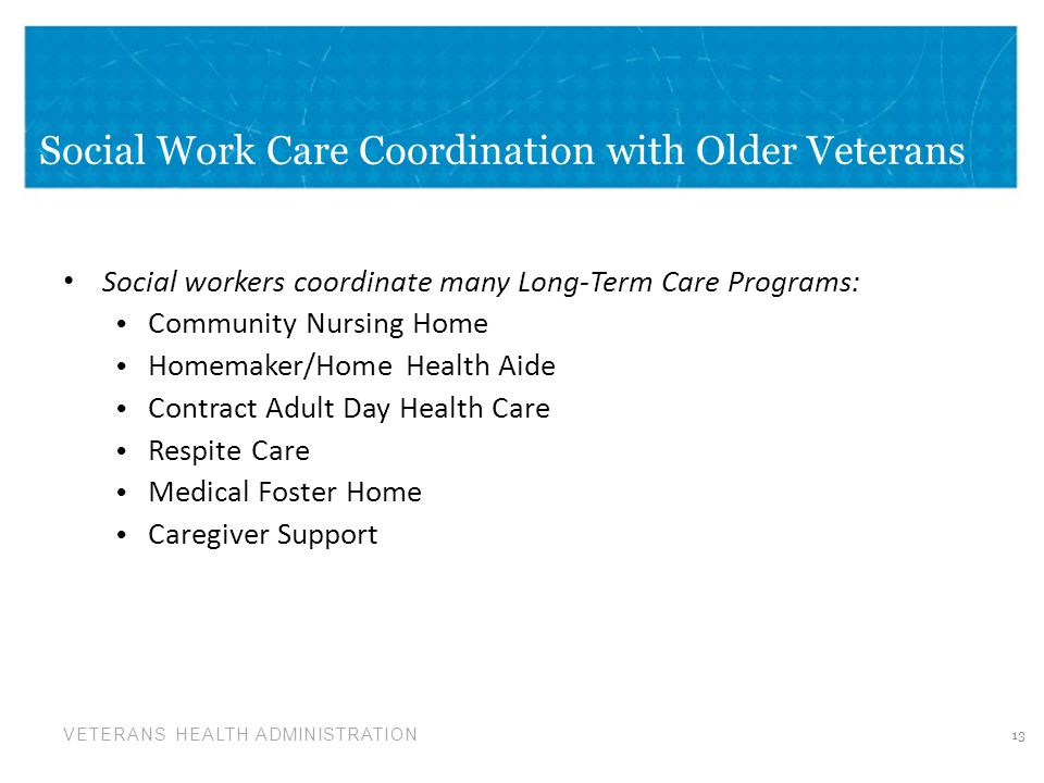 Social Work Care Coordination with Older Veterans