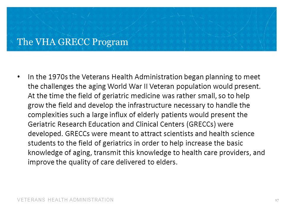 The VHA GRECC Program