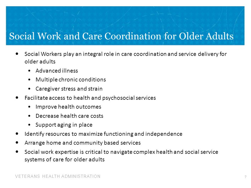 Social Work and Care Coordination for Older Adults