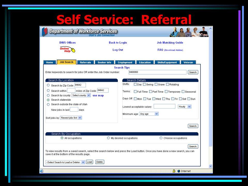 Self Service: Referral