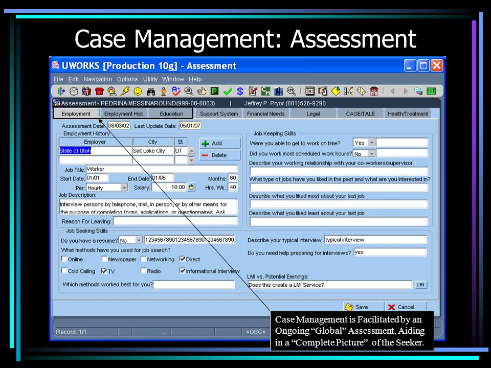 Case Management: Assessment