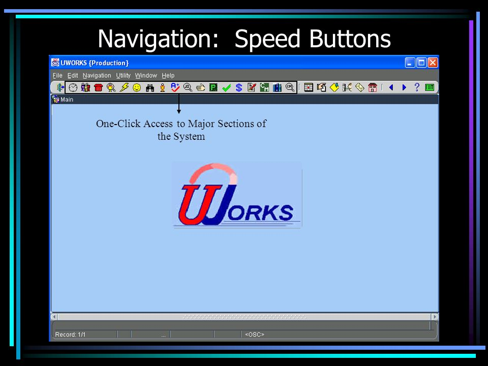 Navigation: Speed Buttons