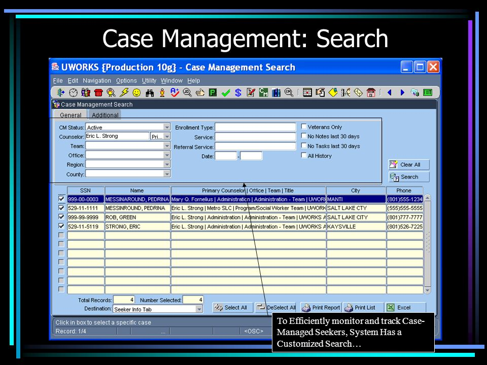 Case Management: Search