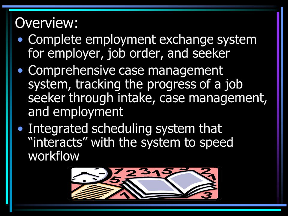 Overview: Complete employment exchange system for employer, job order, and seeker.