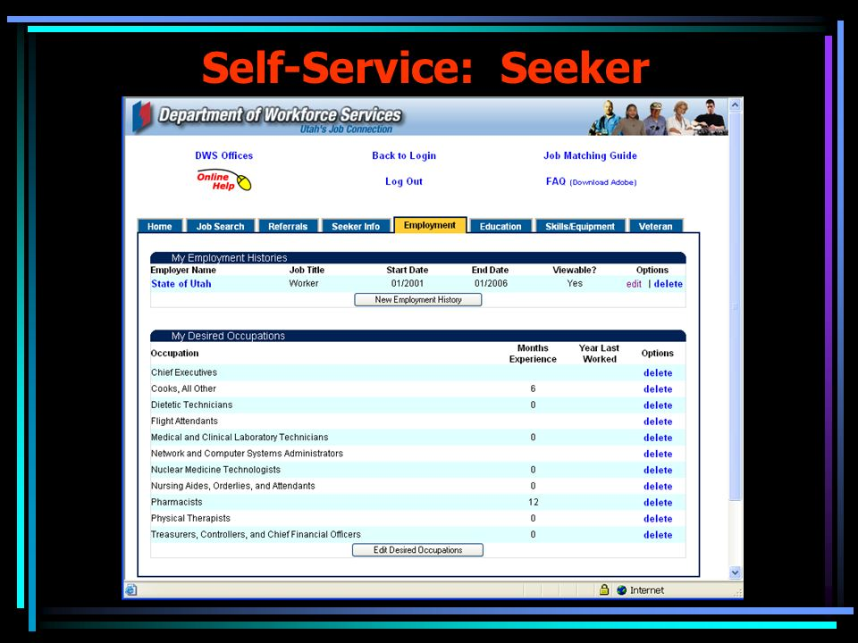 Self-Service: Seeker