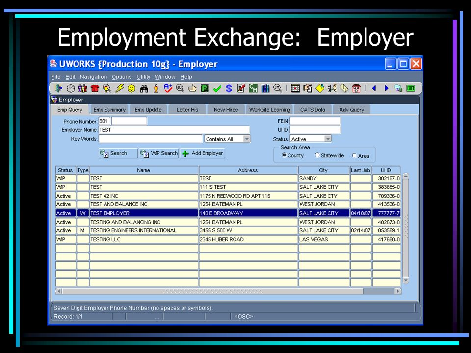 Employment Exchange: Employer