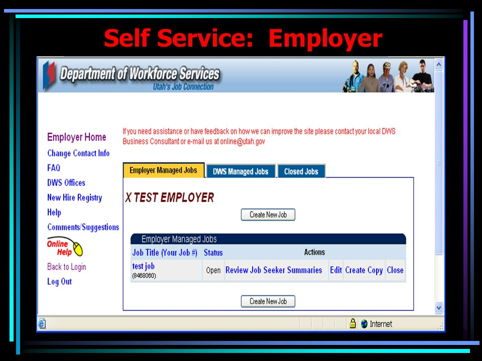 Self Service: Employer