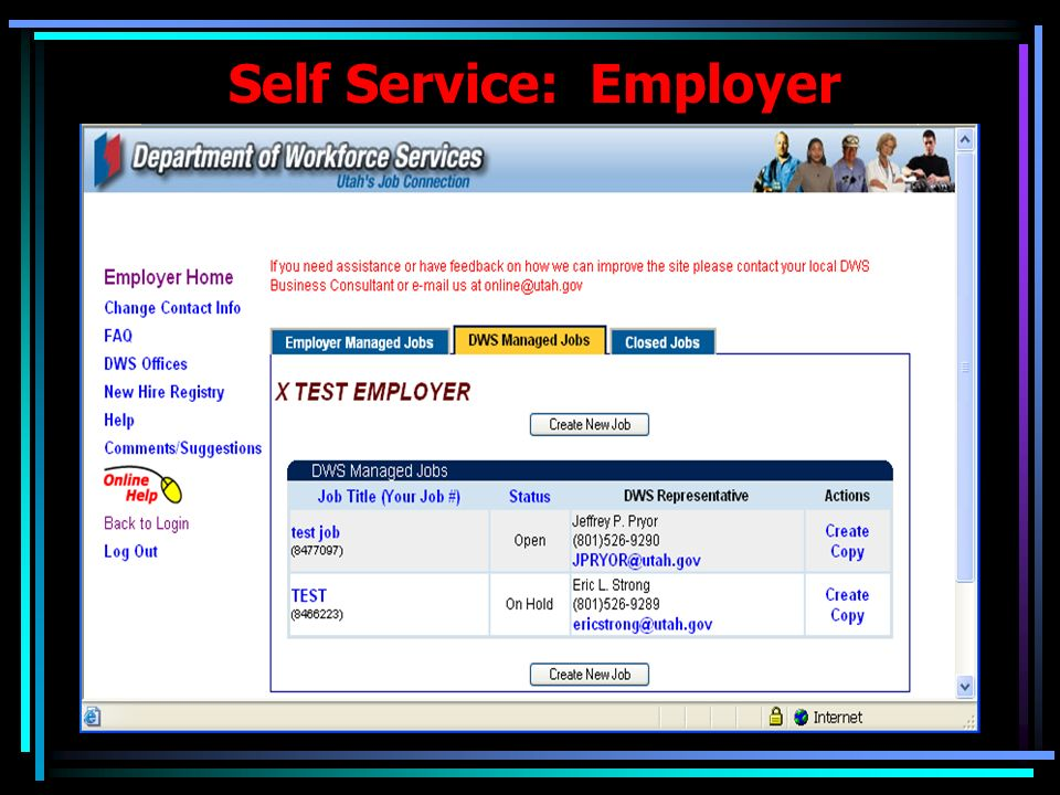 Self Service: Employer