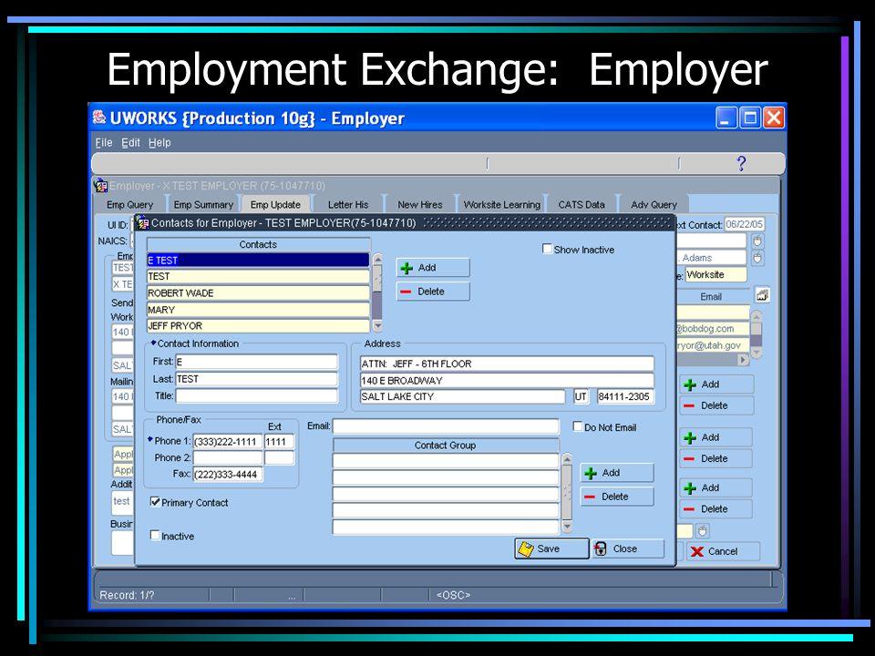 Employment Exchange: Employer
