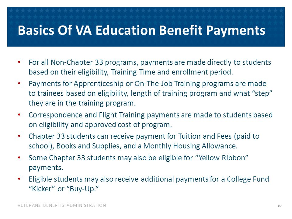 Post-9/11 GI Bill Payments