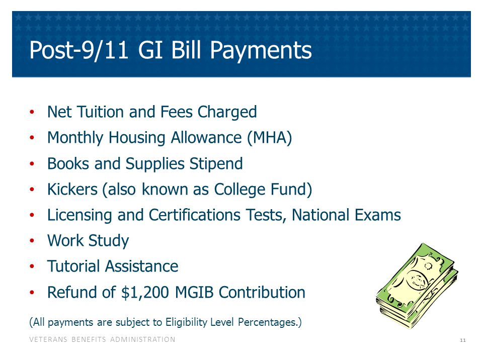 Basics Of Post 9/11 GI Bill Payments