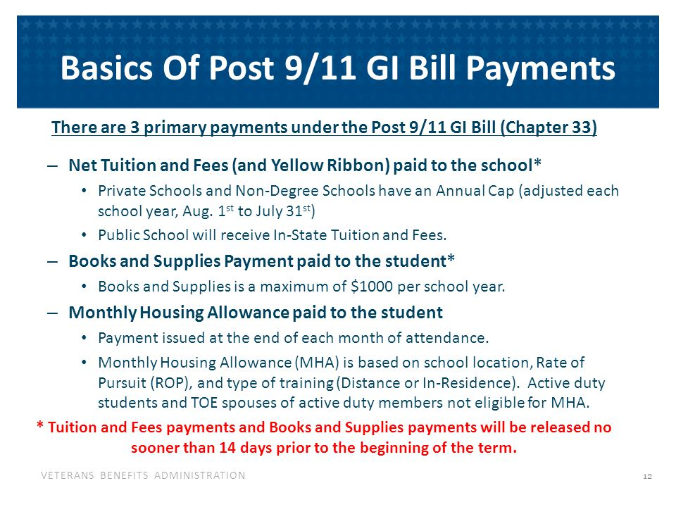 Net Charges VA was initially considered 'First Payer' for tuition & fees. reporting purposes. Effective August 1, 2011, schools must.