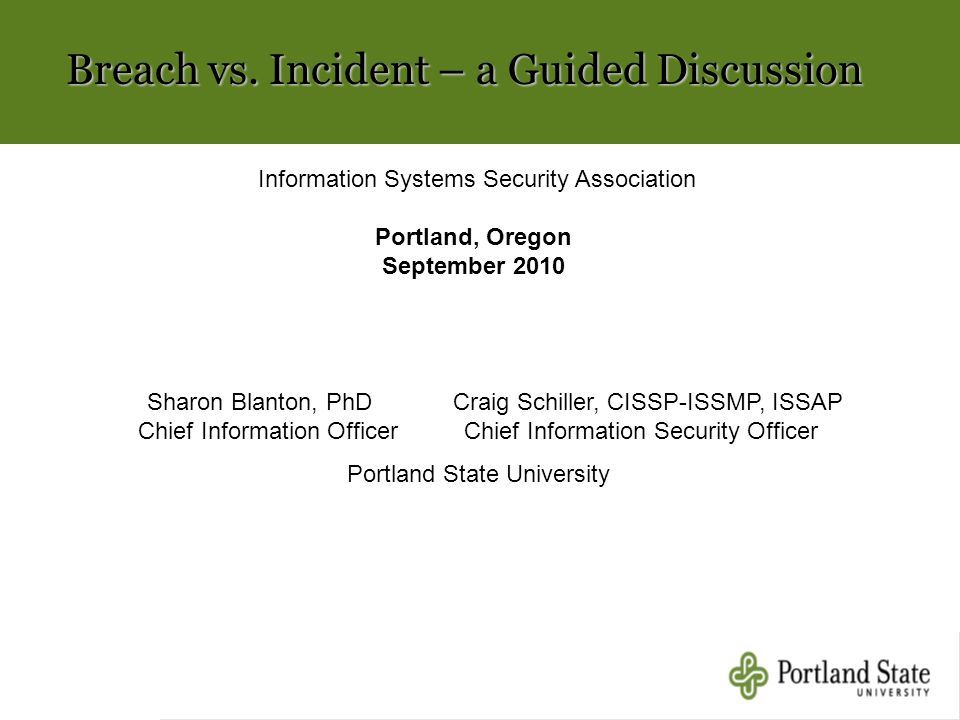 Breach vs. Incident – a Guided Discussion