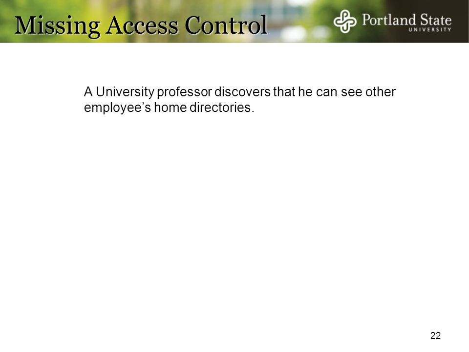 Missing Access Control