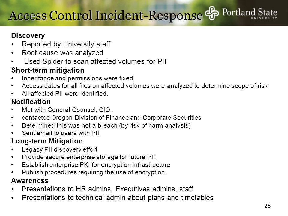 Access Control Incident-Response