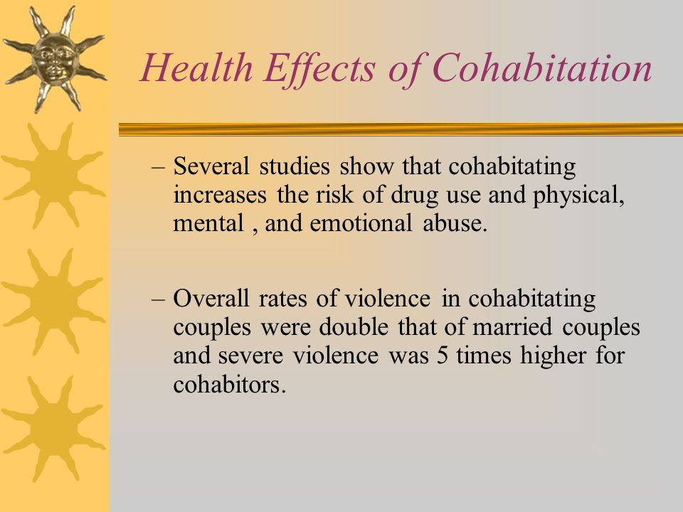 Health Effects of Cohabitation