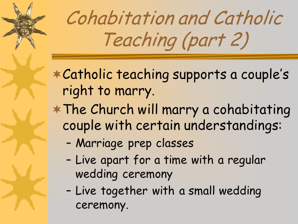 Cohabitation and Catholic Teaching (part 2)