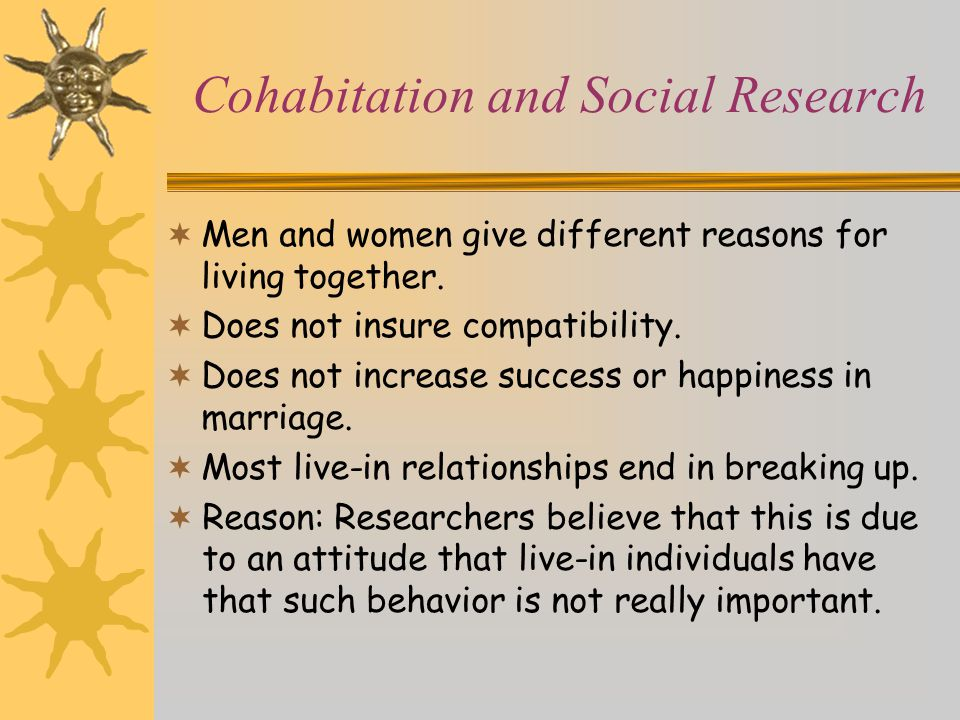 Cohabitation and Social Research