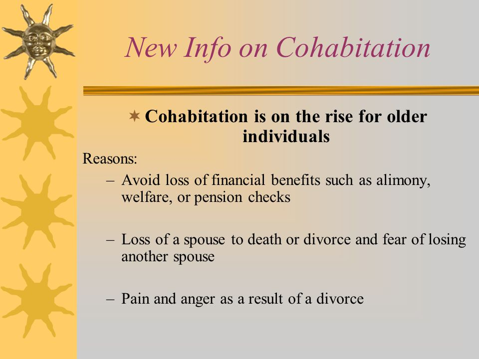 New Info on Cohabitation