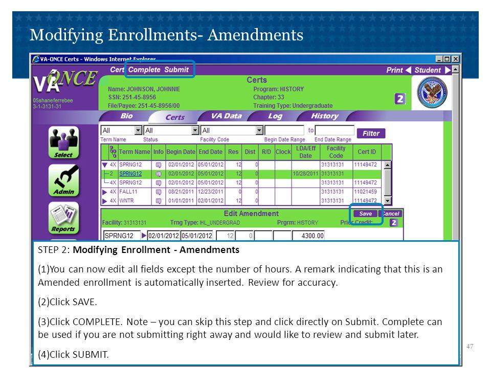 Modifying Enrollments- Terminations