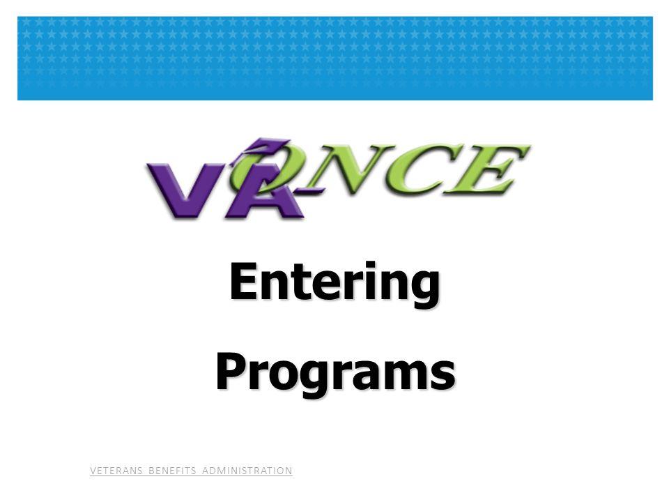 Entering Programs.