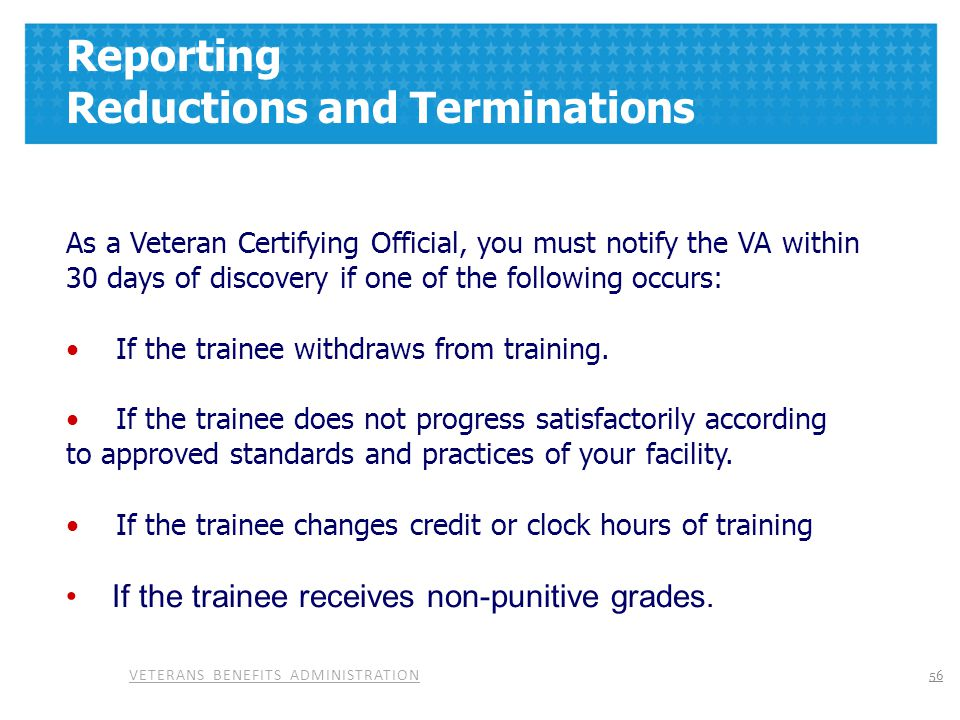 Reporting Reductions and Terminations