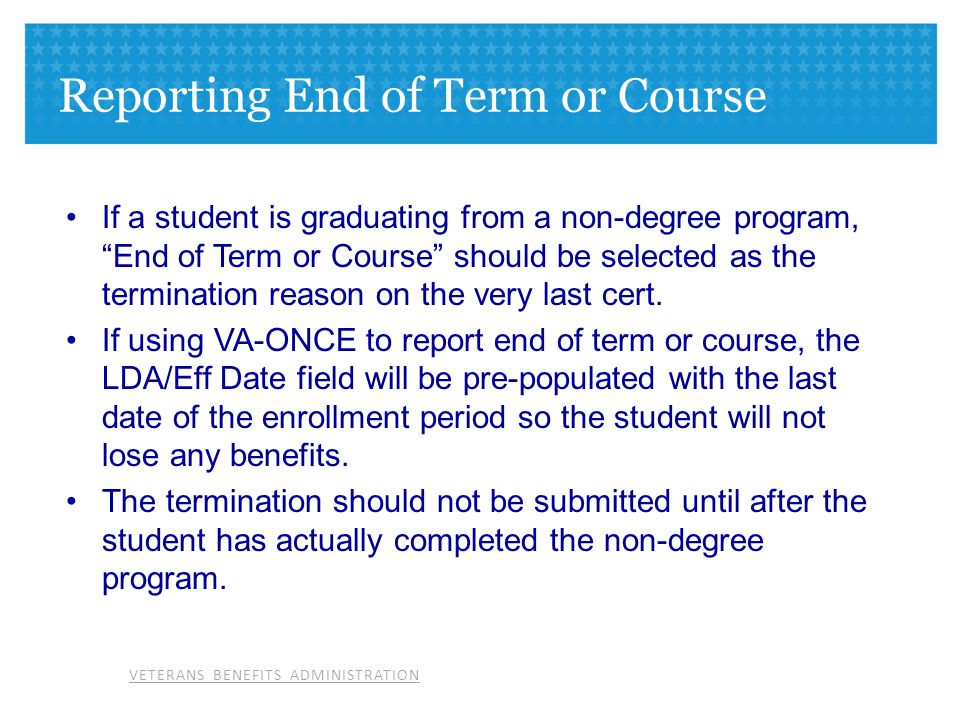 Reporting End of Term or Course