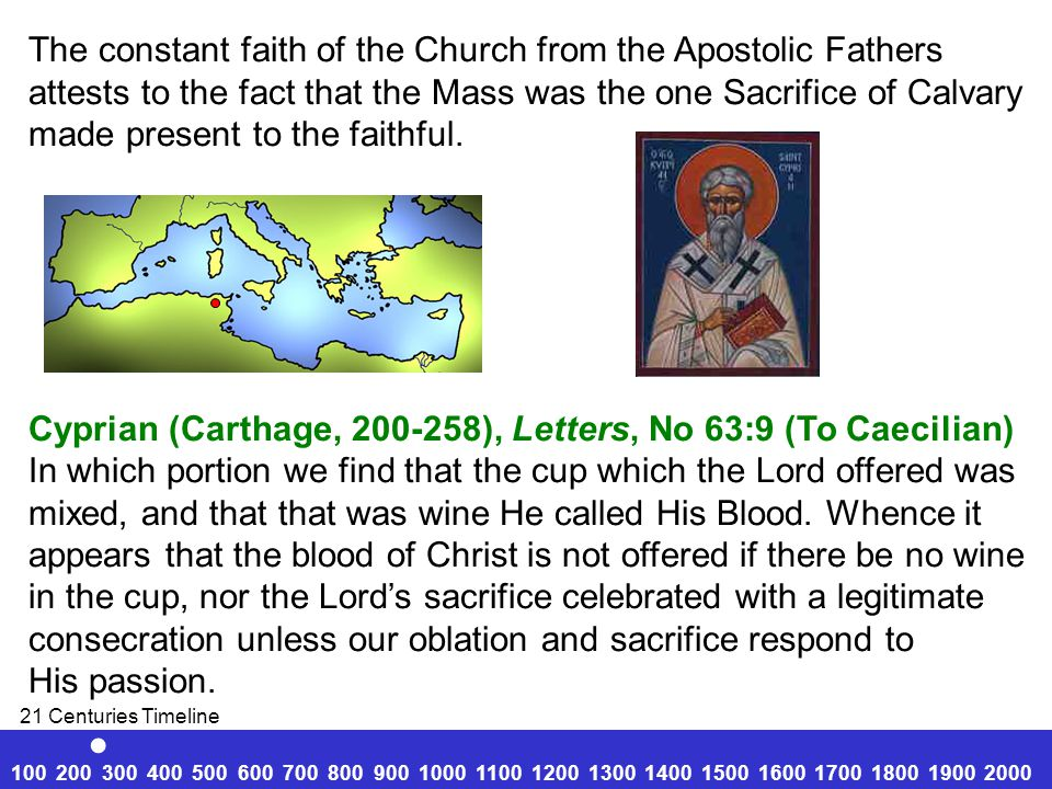 . The constant faith of the Church from the Apostolic Fathers