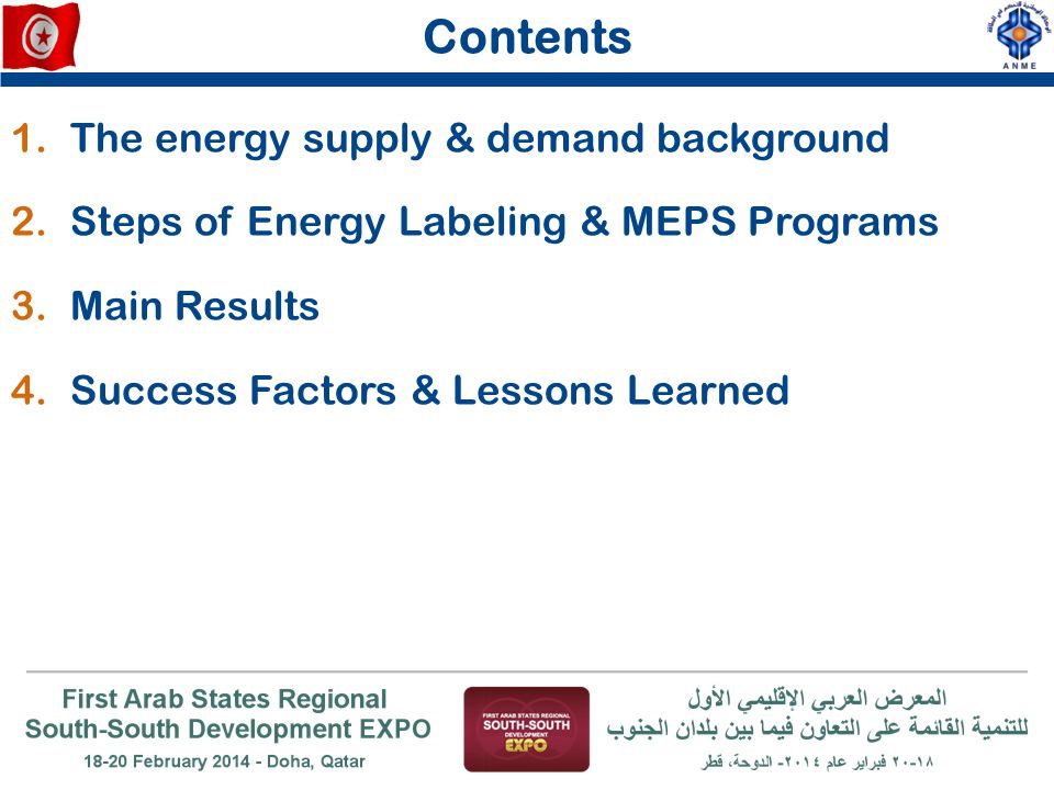 Contents The energy supply & demand background